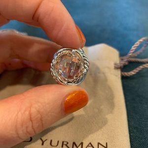 David Yurman Infinity Ring Morganite 11mm Size 6.